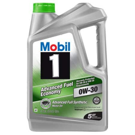 5-Quarts Mobil 1 Full Synthetic Motor Oil 0W-30 $9 after rebate