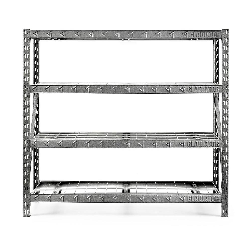 "Gladiator 77"" 4-Shelf Tool-Free Rack (8000-lb Capacity) + $11.50 SYW Points  $150 + Free Store Pickup"