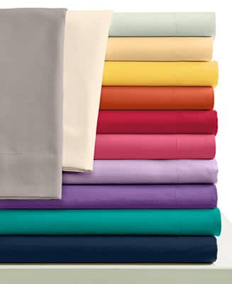 Twin Sheet Set (220-TC Cotton/Poly Blend or Microfiber) $6.80 + free store pickup at Macys or free shipping over $25