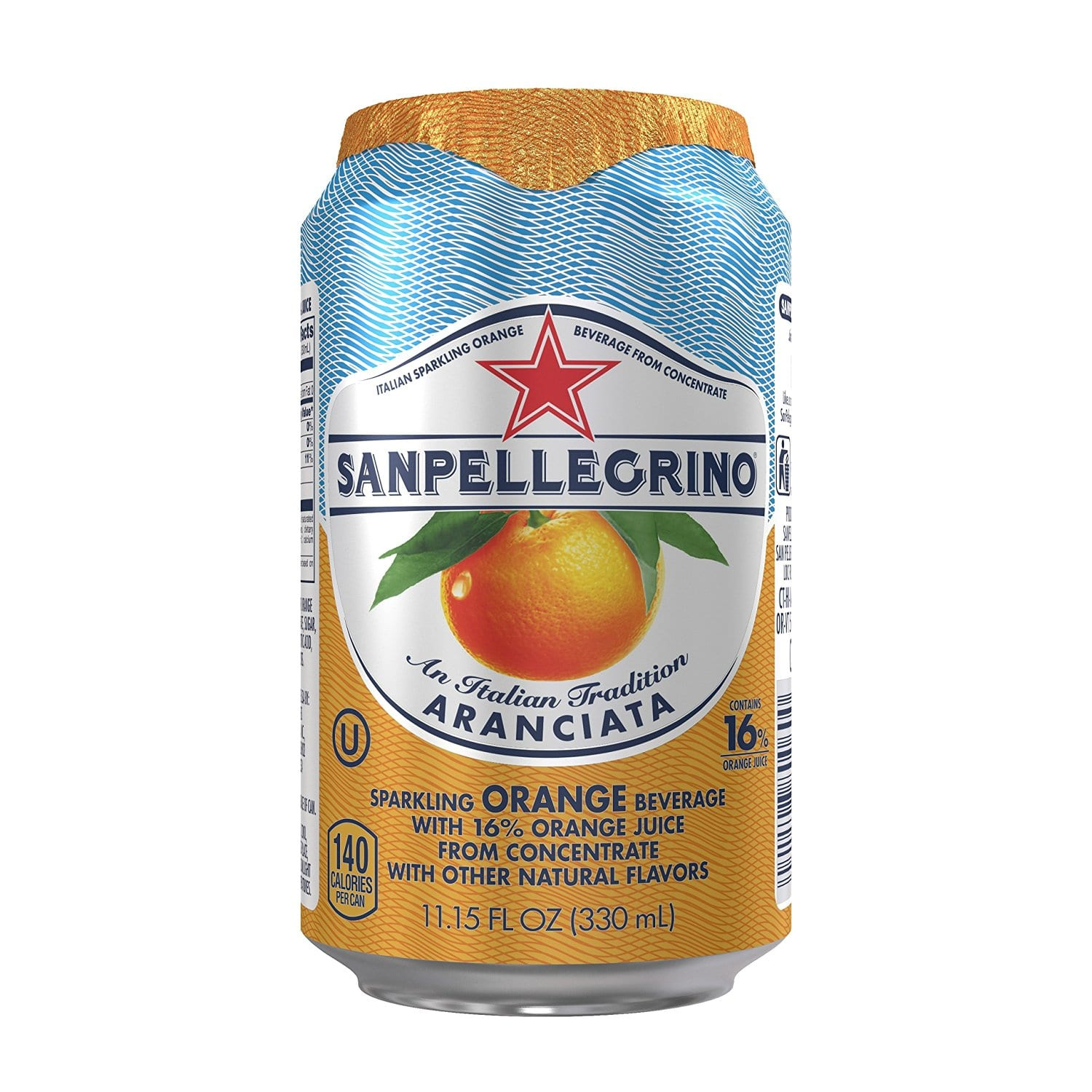 San Pellegrino Sparkling Fruit Beverages, Aranciata/Orange 11.15-ounce cans (Total of 24) For $15 + 20% clip the Coupon $11.37