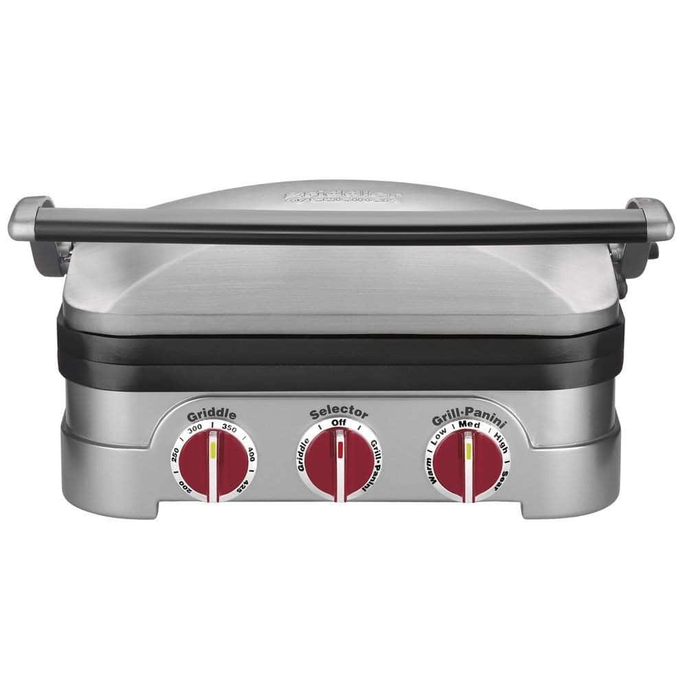 Cuisinart GR-4NR 5-in-1 Griddler w/ Red Dials (Silver) $49.99 + Free Shipping