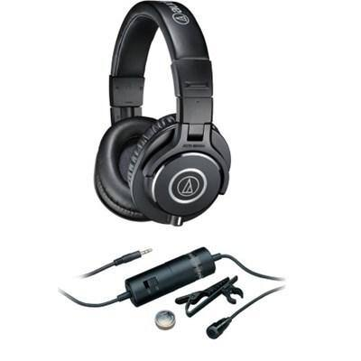 Audio-Technica ATH-M40x Headphone with Case + ATR 3350i Microphone $79 + free shipping