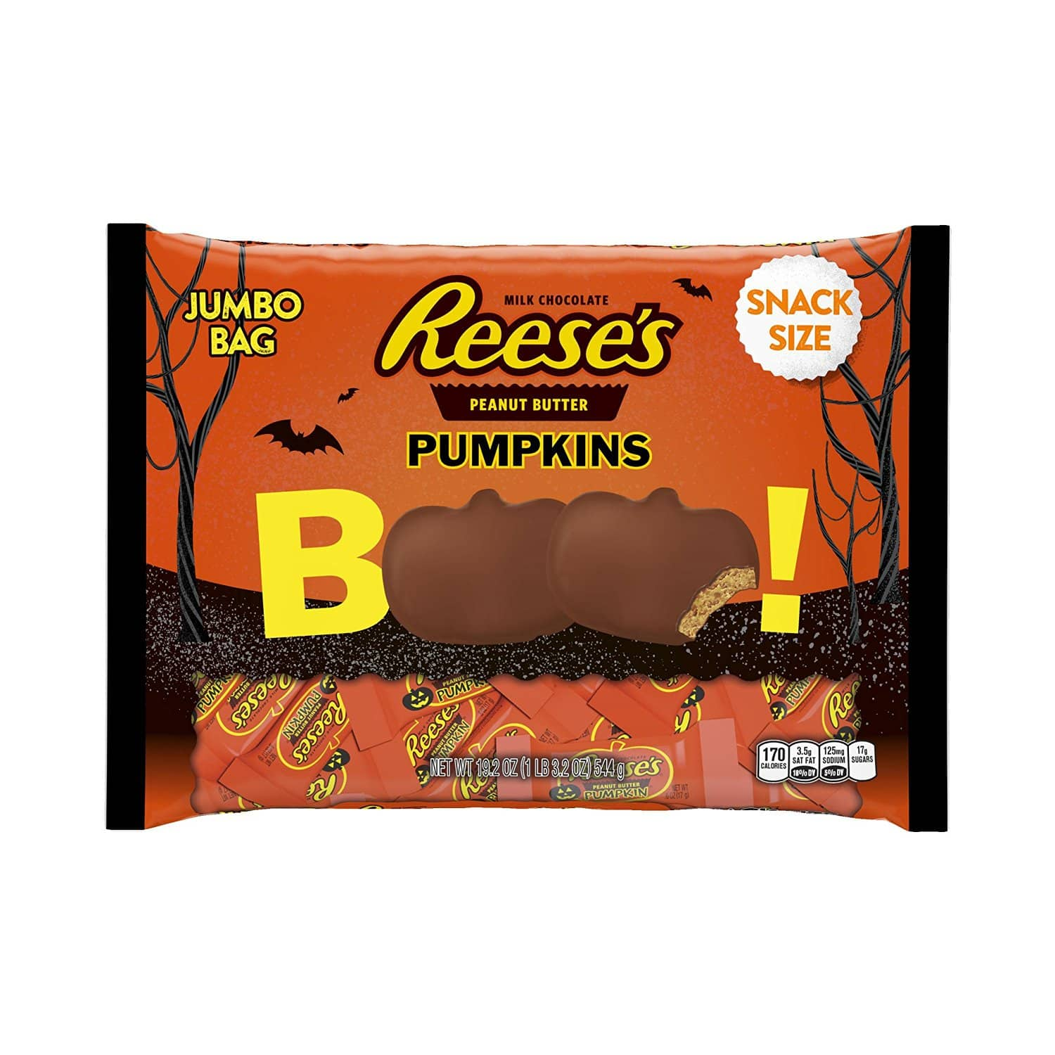Hershey's Halloween Candy: 50-pc Reese's Snack Size Peanut Butter Pumpkins  $8 & More