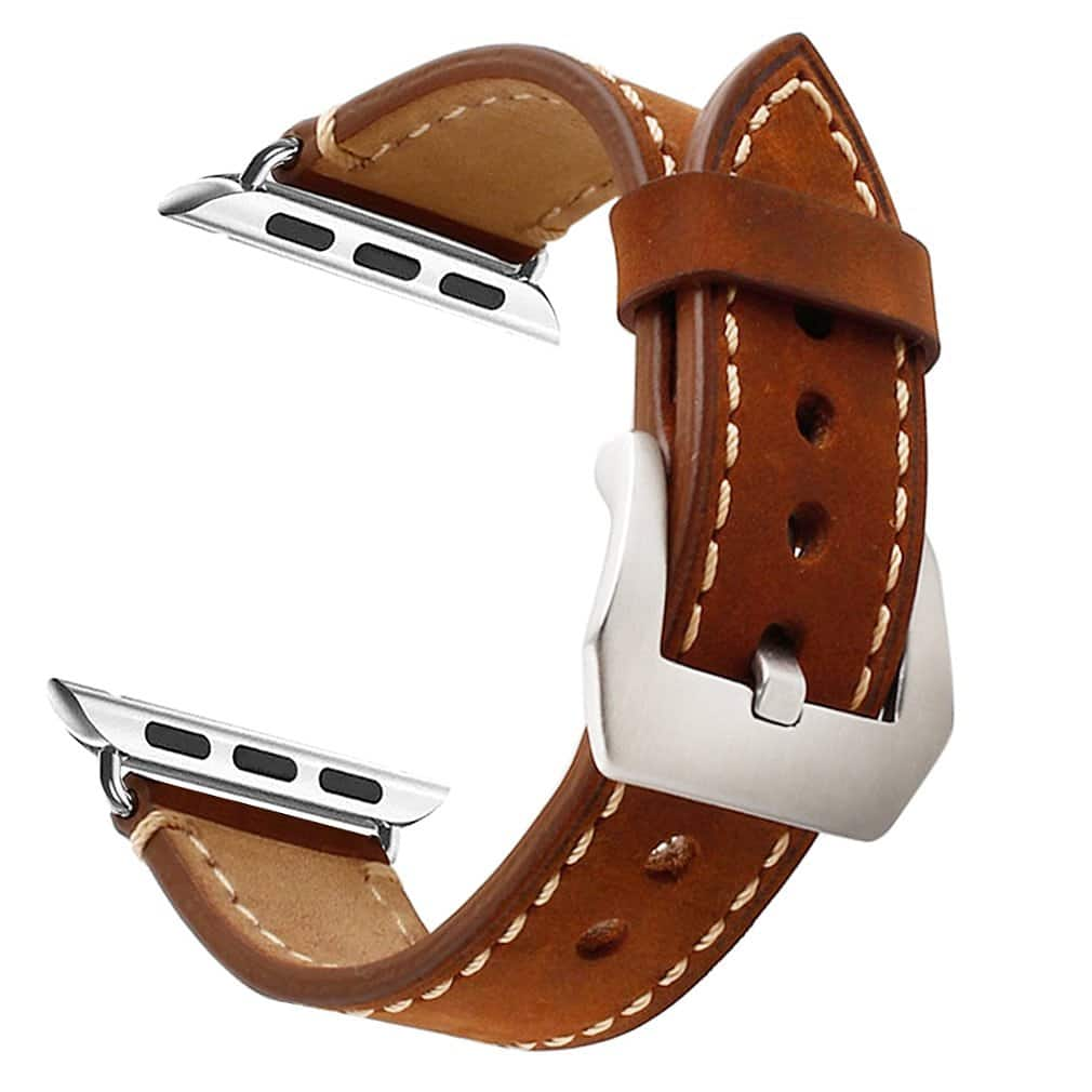 Mkeke: Brown Leather 38mm Apple Watch Band- $5.99 + FSSS