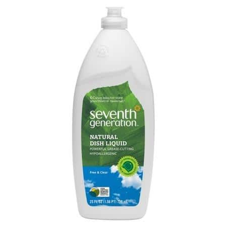 Seventh Generation: 4-Pk 25oz Dish Liquid, 4-Pk 26oz Disinfecting Multi-Surface  $6.45 & More + Free S&H