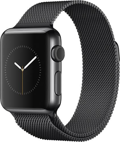 42mm Apple Watch w/ Stainless Steel Case & Black Milanese Band  $249 + Free Store Pickup