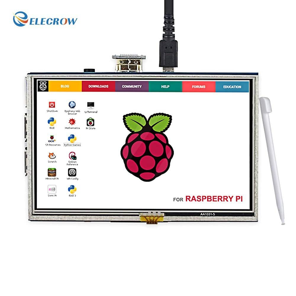 "5"" Elecrow HDMI LCD Display Monitor with Touch Screen - $31.99 + Free Shipping with Prime"