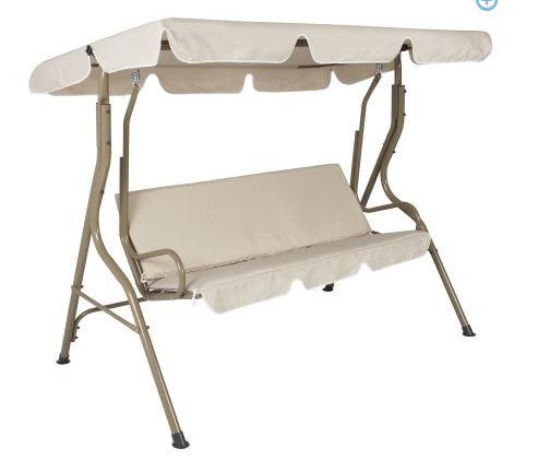 Outdoor 2 Person Canopy Swing Glider Hammock Patio Furniture Backyard Porch $65