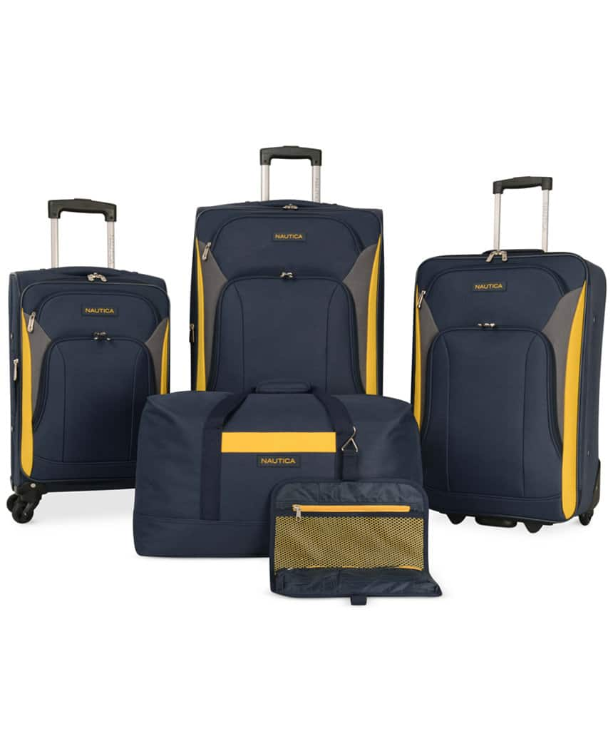 5-Piece Nautica Open Seas or Oceanview Spinner Luggage Set + $20 in Macys Money $136 + free shipping