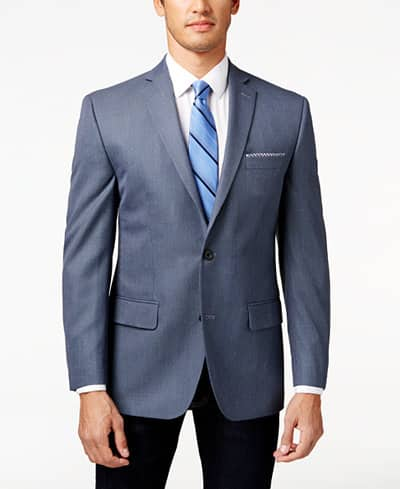 Men's Michael Kors Blue Neat Classic-Fit Sport Coat  $40