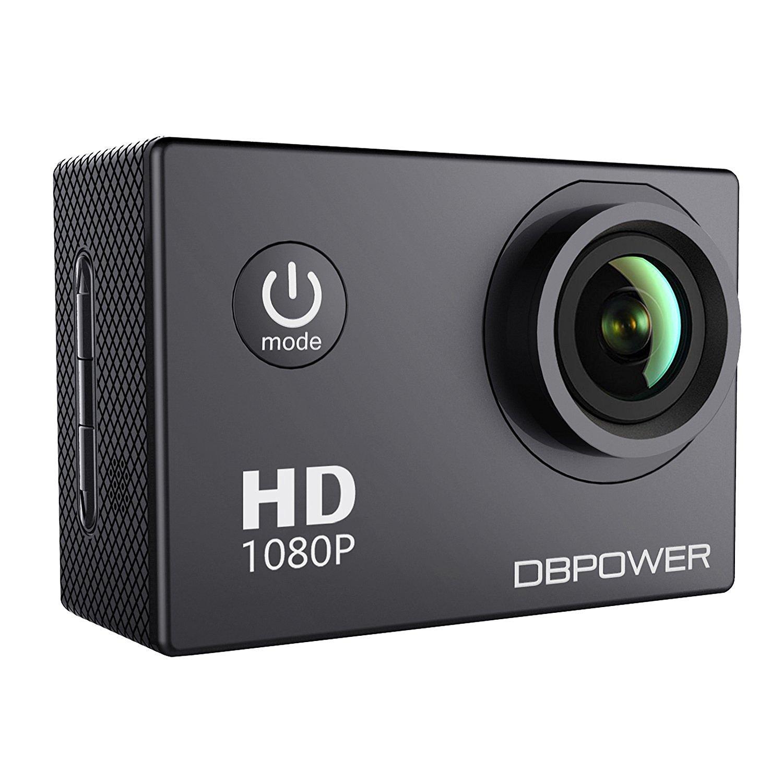 DBPOWER Waterproof Action Camera 12MP 1080P HD- $35.99 + FSSS