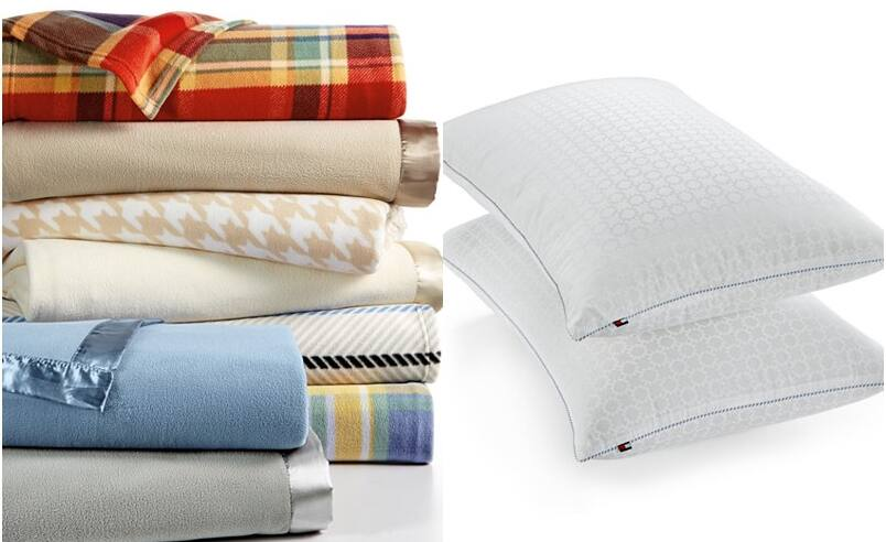 TWO Berkshire Soft Fleece Blankets (any size) + TWO Tommy Hilfiger Pillows $31.56 + free store pickup at Macys