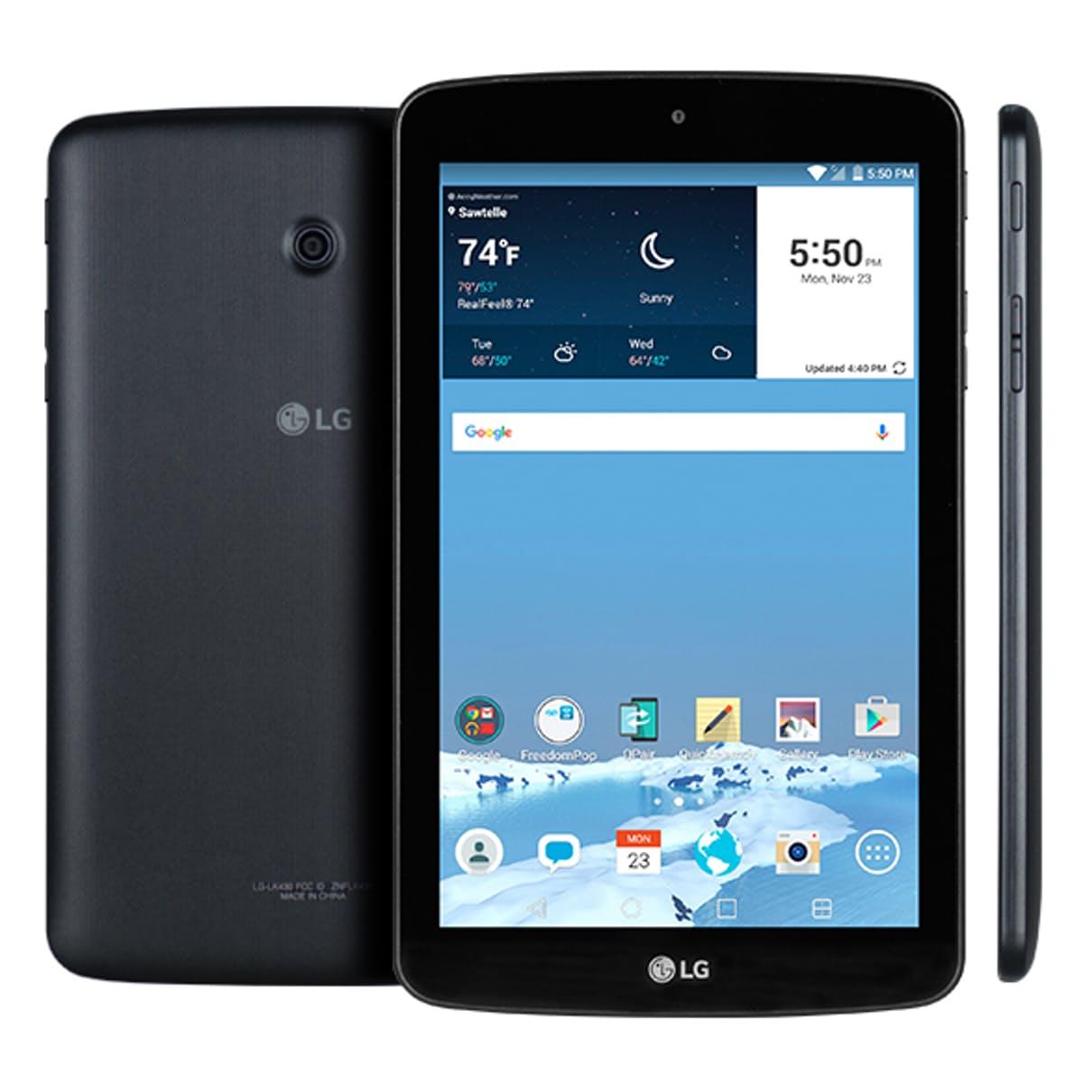 "100% Free Internet w/ 7"" LG G Pad 8GB Tablet WiFi + LTE (Refurb) - FreedomPop $50, Free Shipping"