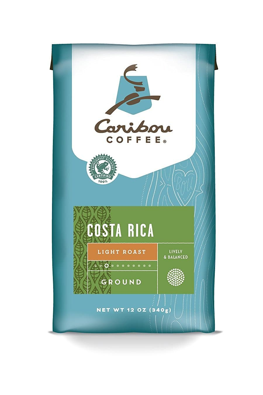 Caribou Coffee  - 12 Ounce Bag (Ground) - Costa Rica or Lacuna Blend - $4.48/4.58 AC & S&S ($3.73/$3.83 AC & 5 S&S Orders) - Amazon