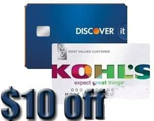 Discover Card Holders: $10 Kohl's Cash (availability may vary, expired 10/17/16)