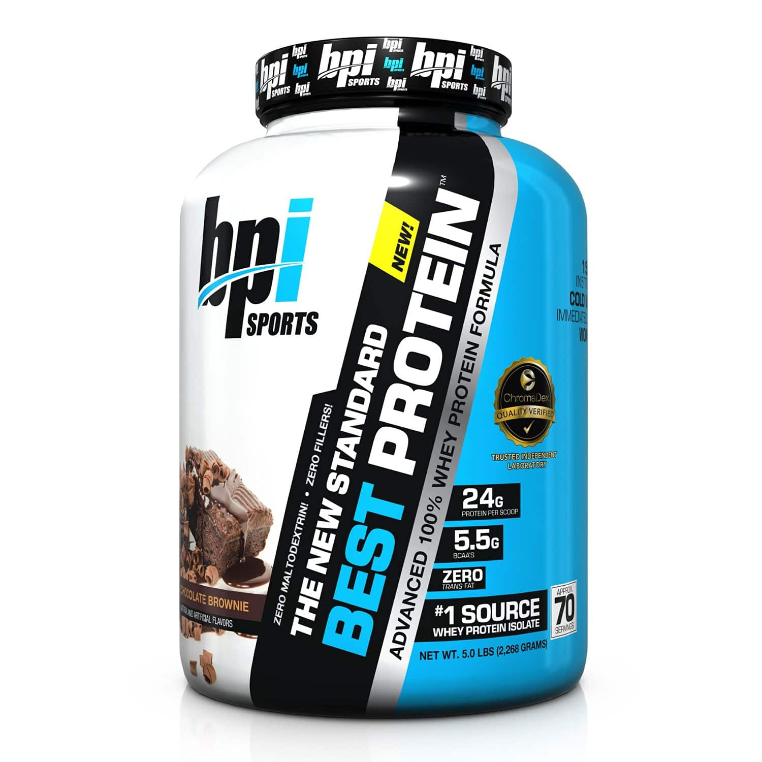 Amazon - BPI Sports Best Protein, Vanilla Swirl, 5 Pound - $25.23 After 30% Coupon + 15% S&S (Other Flavors Available)