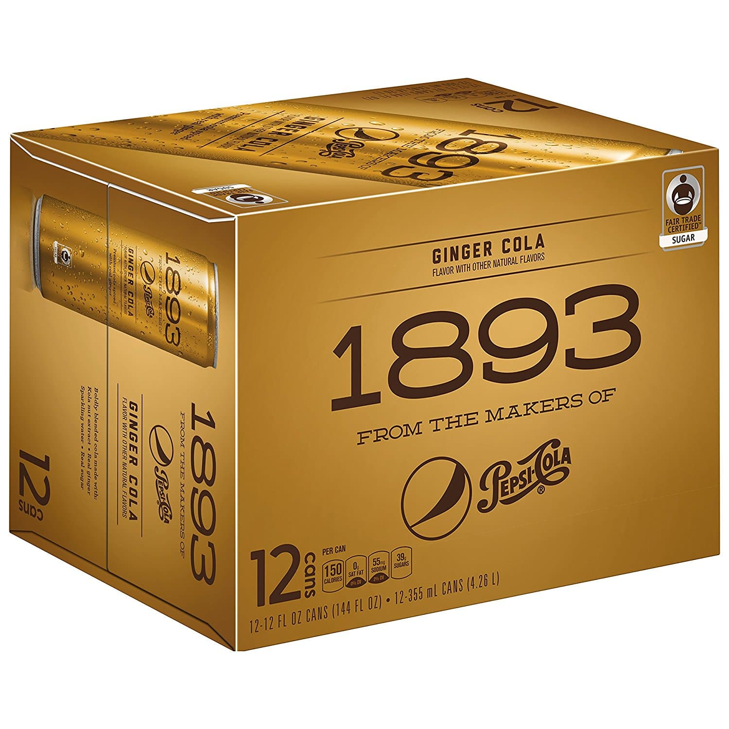 12-Pack Pepsi Cola 1893: Ginger Cola $6.73 (Amazon Subscribe & Save Add-on Item + 20% Coupon)