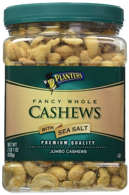 33oz Planters Fancy Whole Cashews with Sea Salt $11.72 + Free Shipping