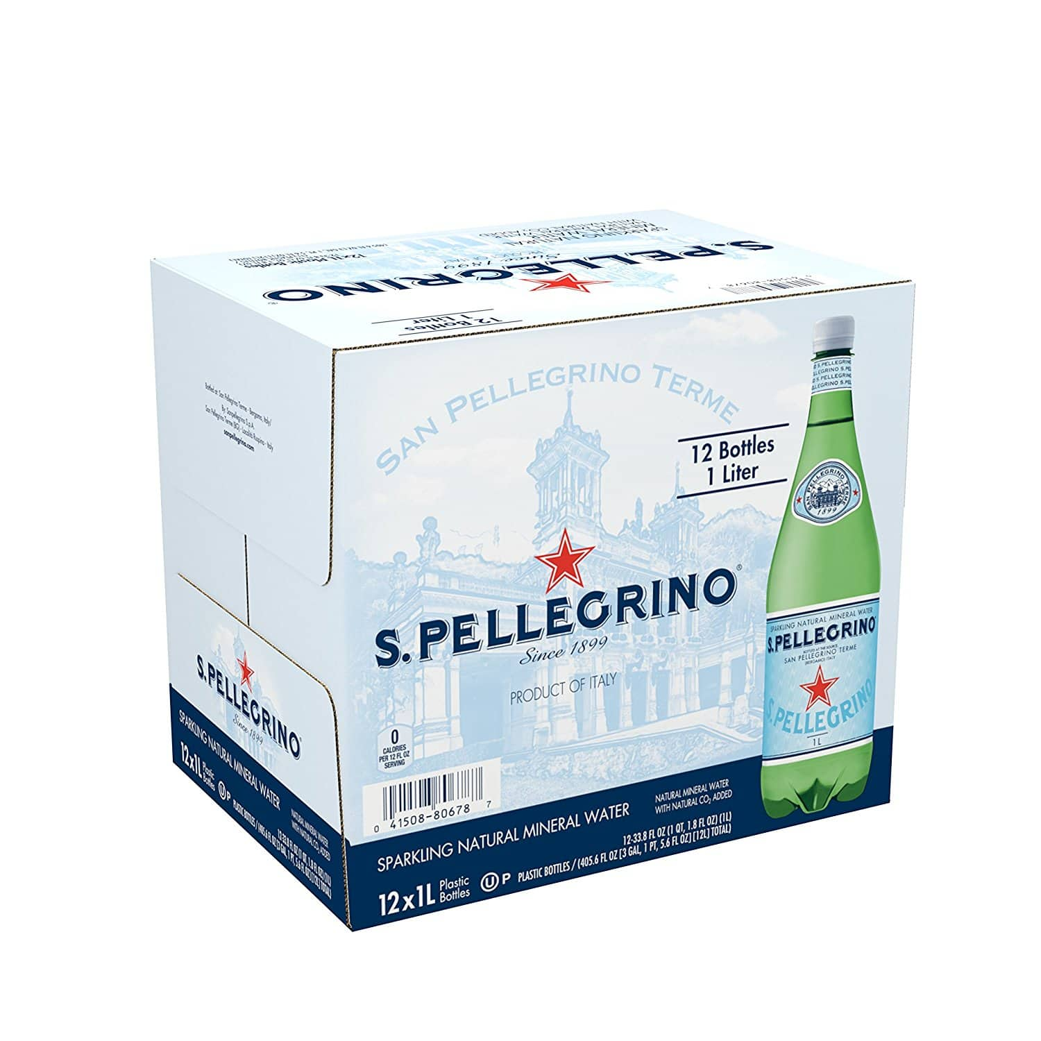 12-Pack 33.8oz San Pellegrino Sparkling Natural Mineral Water $10.48 + Free Shipping