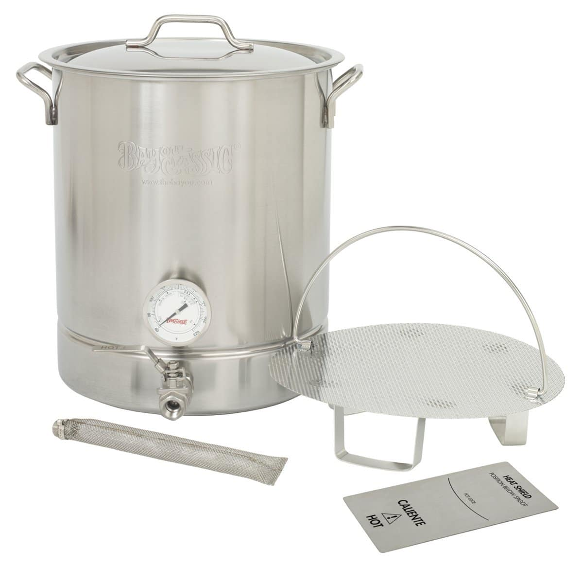 Bayou Classic 800-416 16 Gallon Stainless Steel 6 Piece Brew Kettle - $125.60