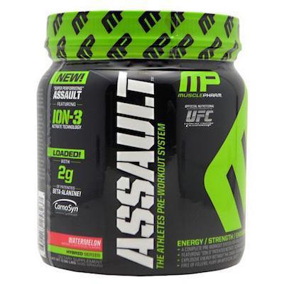 3x 30-Serving MusclePharm Assault Pre-Workout Powder - $33.99