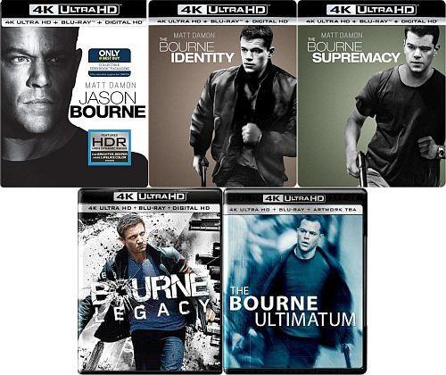 Jason Bourne 5 Film Collection [4K UHD Bluray] $44.99 after adding $20 4K Film