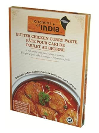Kitchens of India Paste for Butter Chicken Curry, 3.5-Ounce Boxes (Pack of 6)  $7.59 or less with Amazon S&S