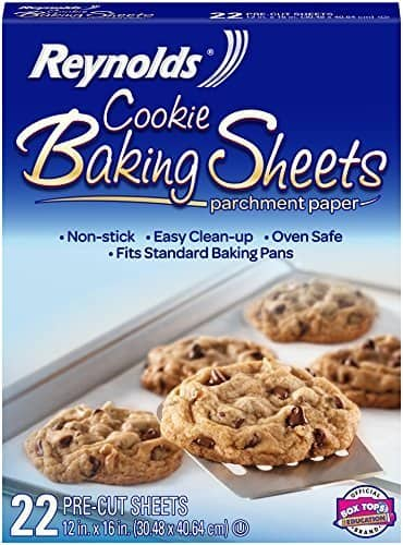 Amazon has Reynolds Cookie Baking Sheets Non-Stick Parchment Paper (22 Sheets) for $1.93