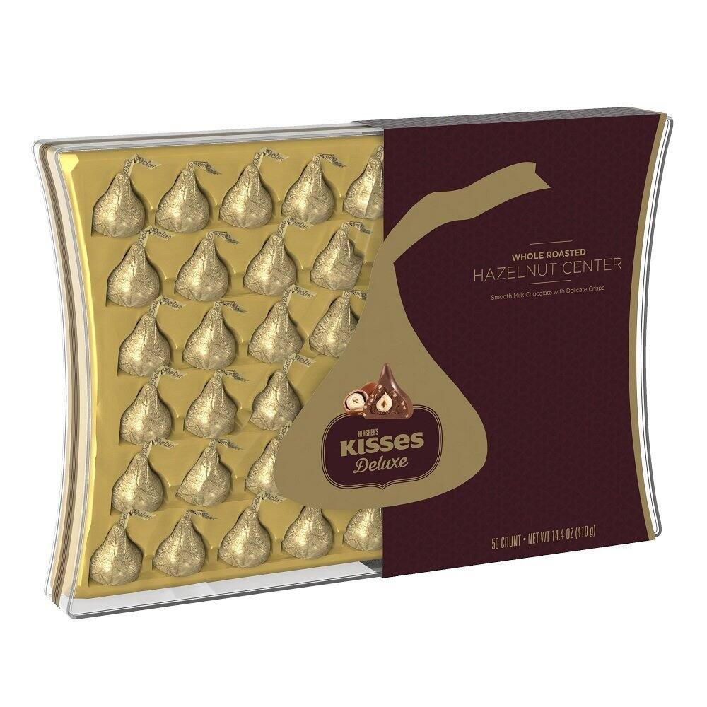 50-Count Hershey's Kisses Deluxe Chocolates Gift Box $7.19 + Free S&H w/ Prime or $35+
