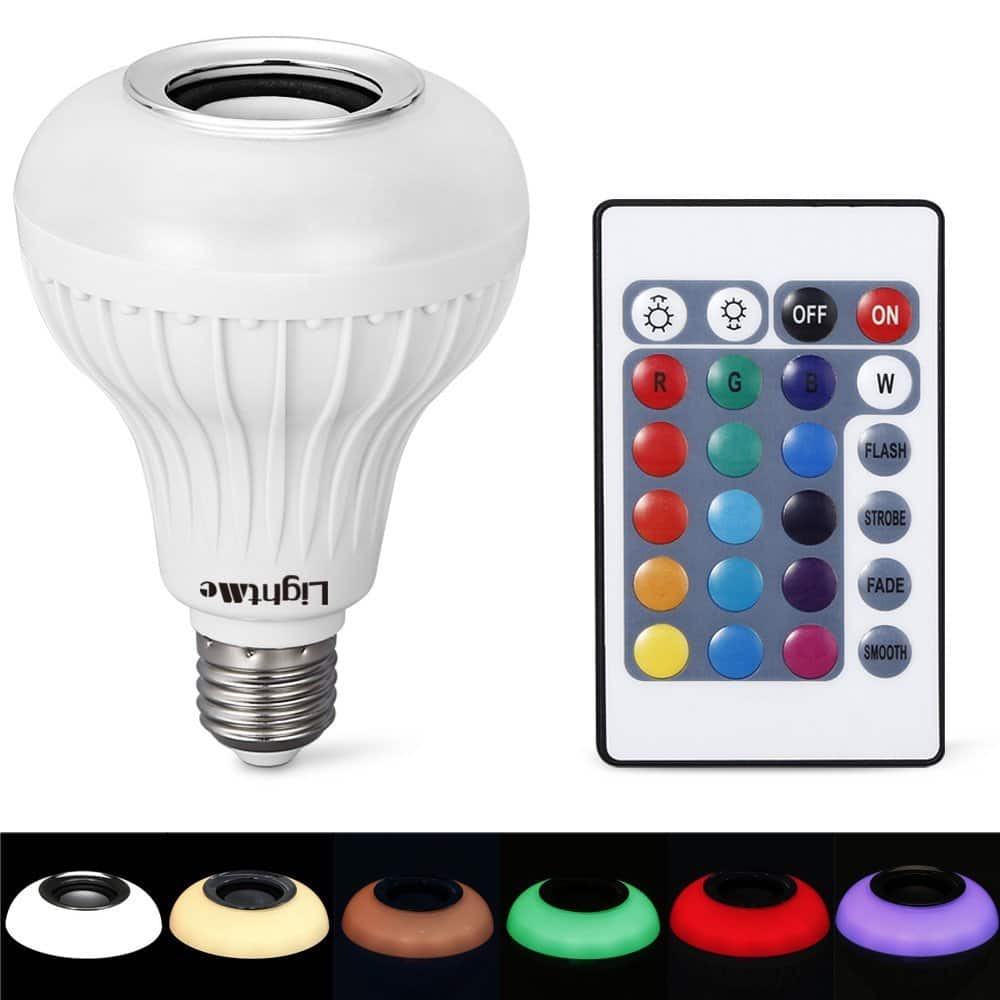 Lightme e27 rgb led light bulb w built in bluetooth for Led light bulb with built in bluetooth speaker