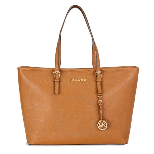 Michael Kors Handbags: Jet Set Medium Travel Saffiano Leather Tote $95 & More + Free Shipping