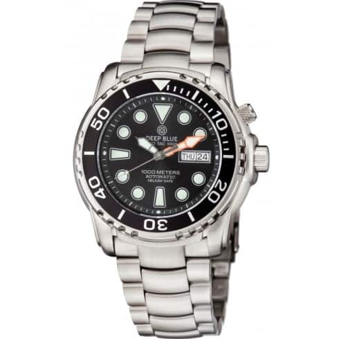 Deep Blue Men's Sea Diver III Automatic Date/Day Watch w/ Stainless Steel Bracelet $239 + Free Shipping