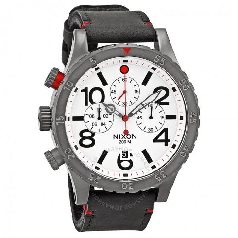 Nixon Men's 48-20 Chronograph Watch w/ Leather Strap $95 + Free Shipping