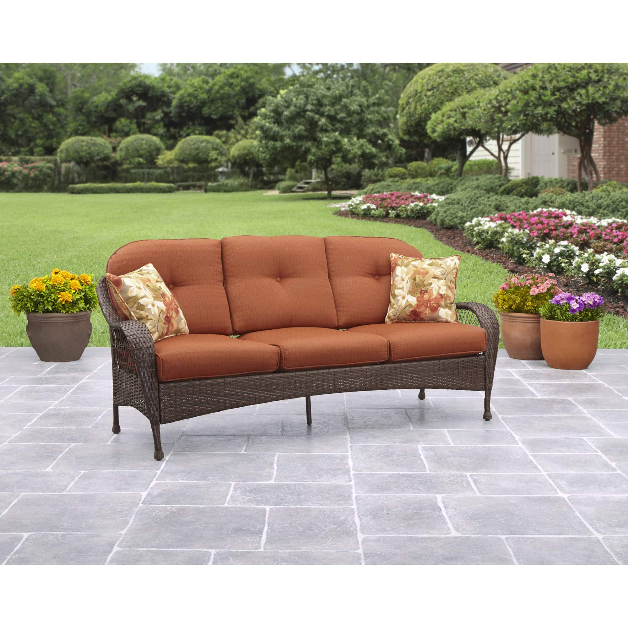 Better Homes And Gardens Azalea Ridge Outdoor Sofa Slickdeals Net