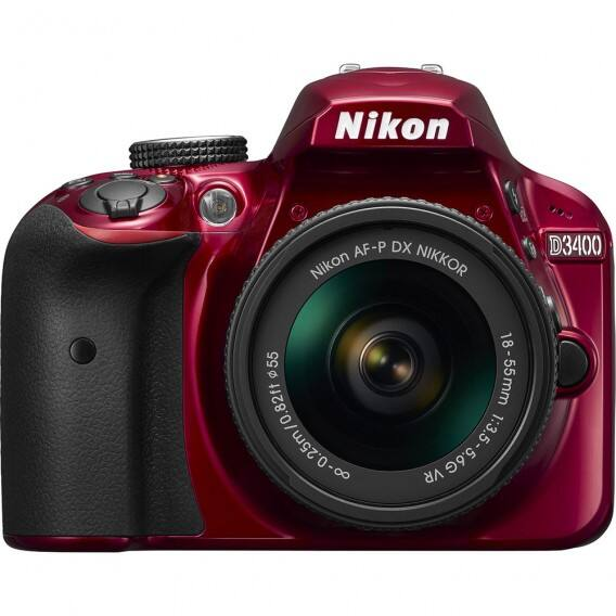 Nikon DSLR Cameras: Nikon D3400 DX-Format 24.2MP DSLR Camera w/ 18-55mm Lens (Red) $397 & More + Free Shipping