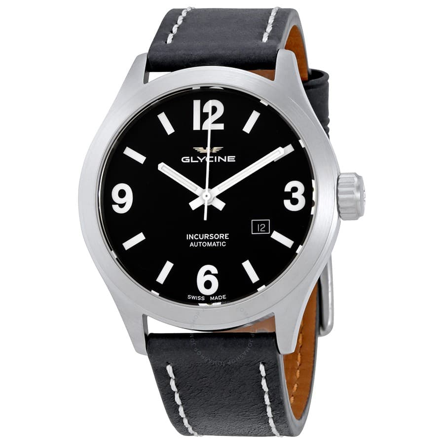 Glycine Men's Incursore Automatic Watch w/ Leather Strap $279 + Free Shipping