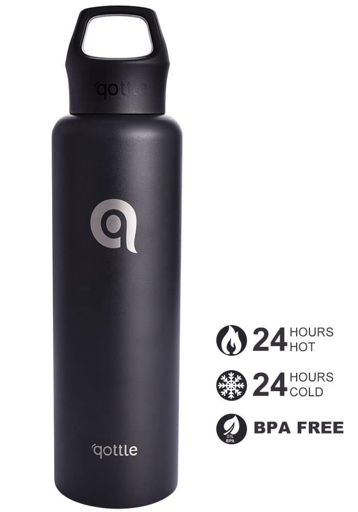 24oz qottle Stainless Steel Vacuum Insulated Water Bottle (various colors) $10 + Free S&H w/ Prime or $25+