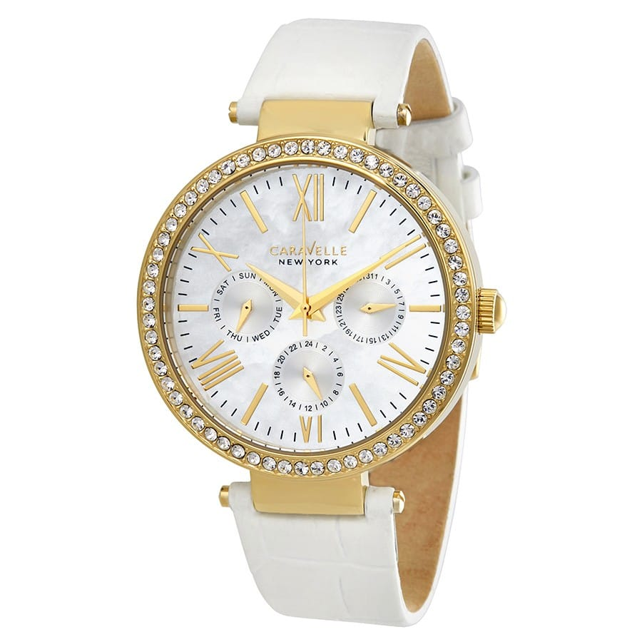 Caravelle by Bulova Women's Mother of Pearl Dial Multifunction Watch $30 + Free Shipping