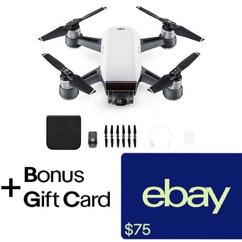 DJI Spark Quadcopter Drone Extra Battery 75 EBay Gift Card