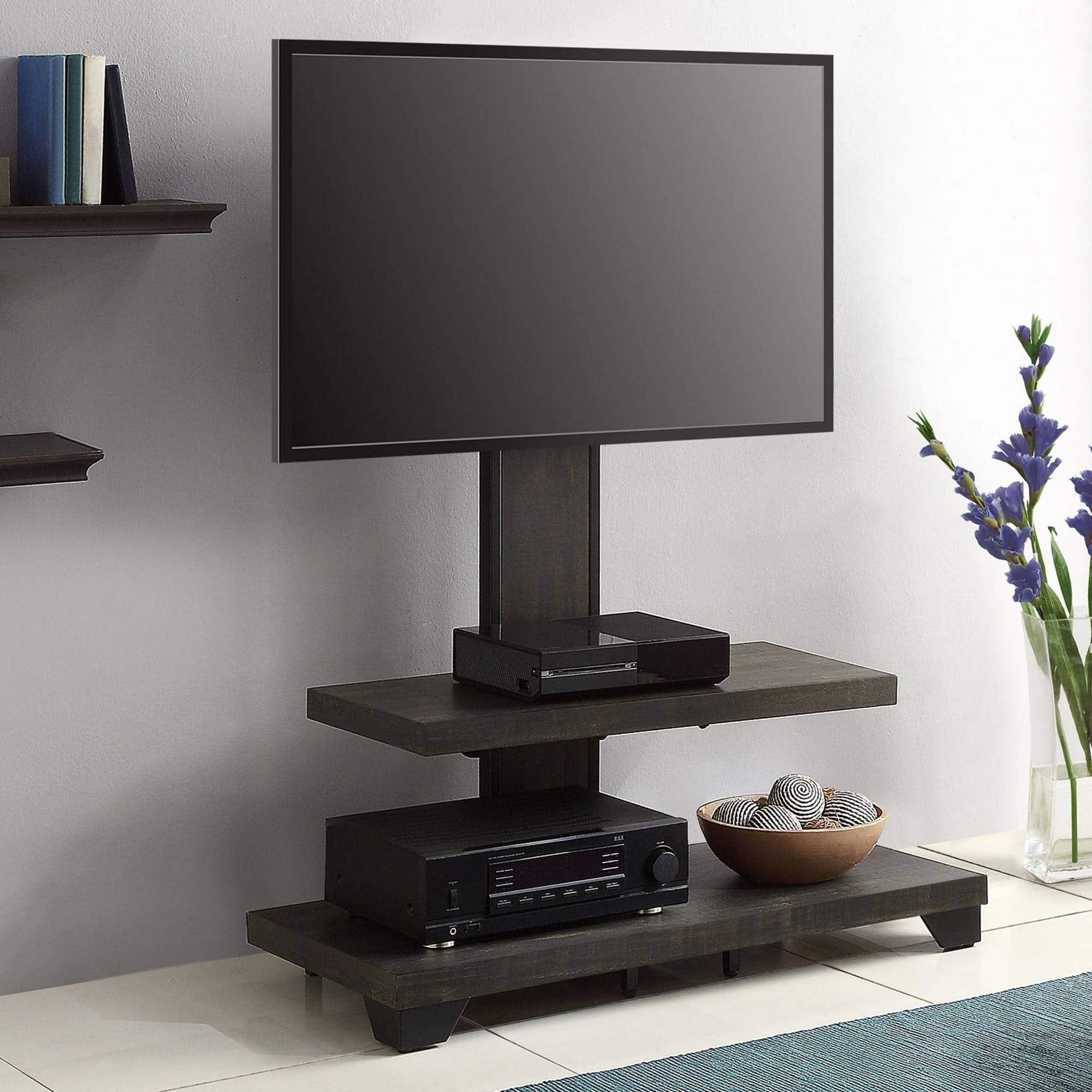 "Whalen 2 Shelf TV Stand w Mount up to 50"" Slickdeals"