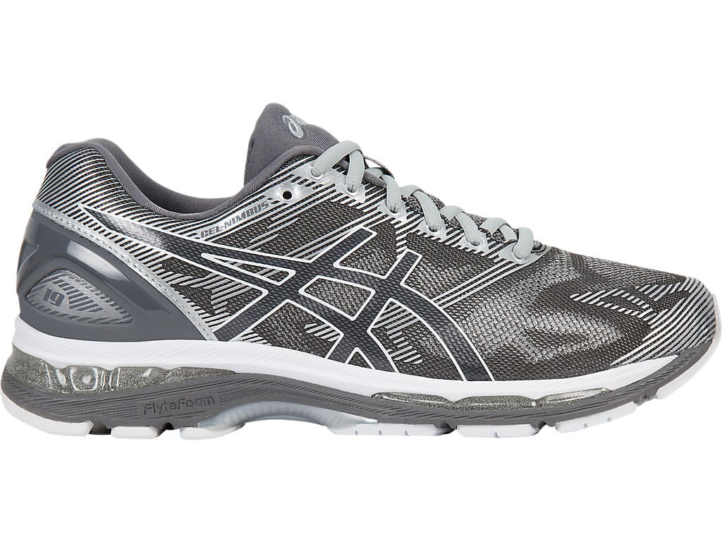 the latest 89d33 5957a Men's Asics Gel Nimbus 19 Running Shoes (Carbon/White/Silver ...
