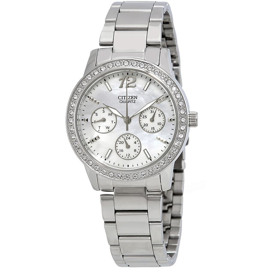 Citizen Women's Watch w/ Mother of Pearl Dial & Swarovski Crystals  $60 + Free Shipping