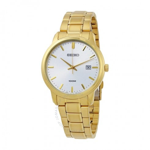 Seiko Men's Gold-Tone Stainless Steel Watch $65 + Free Shipping