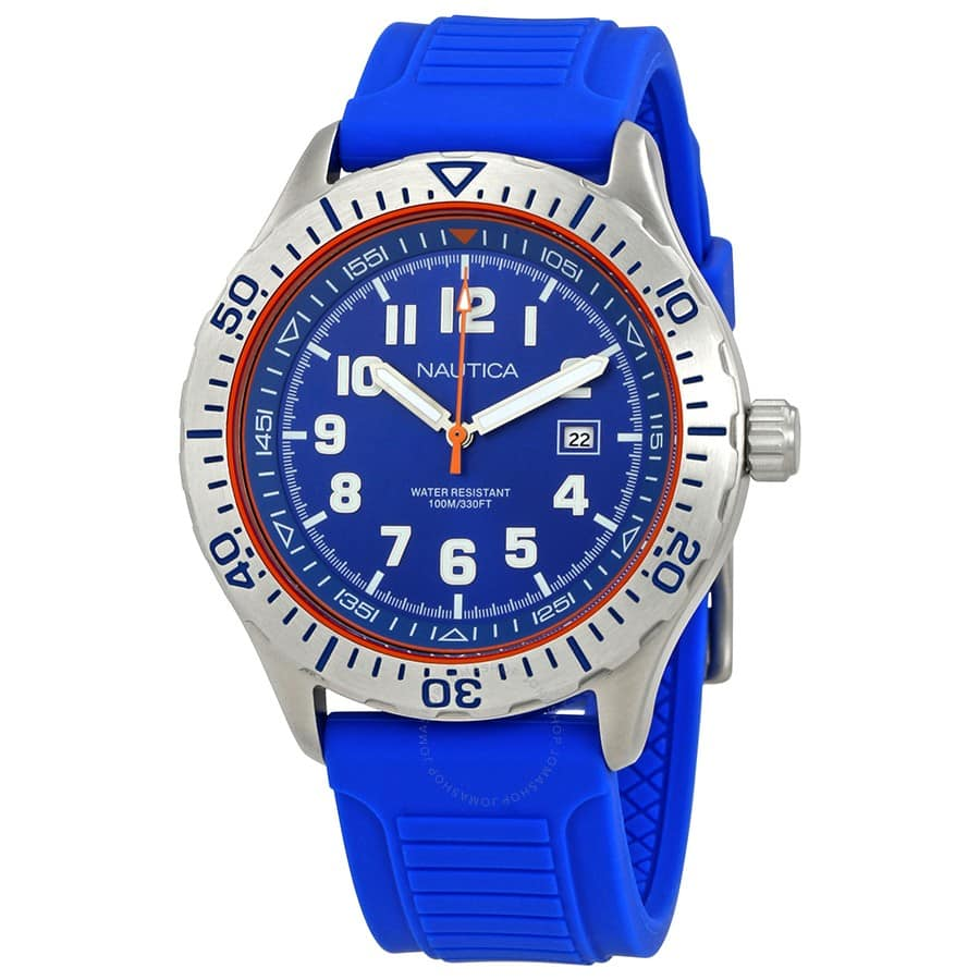 Nautica Men's NSR 105 Watch w/ Silicone Band $35 + Free Shipping