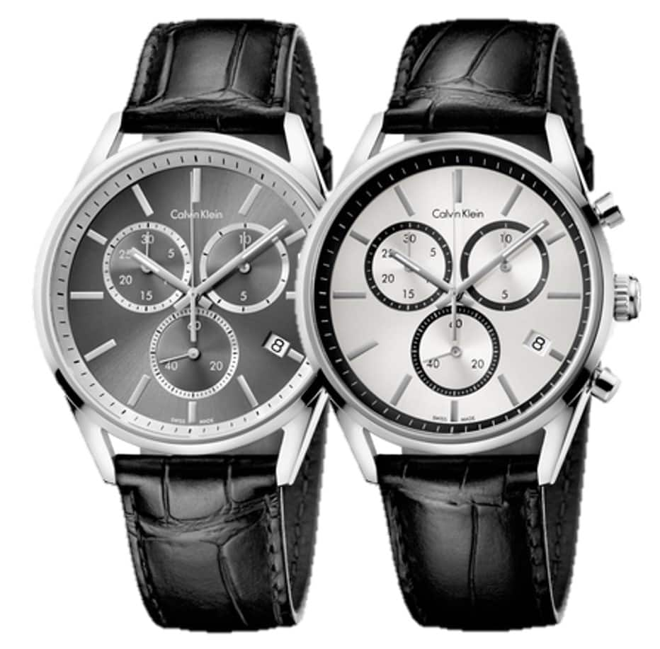 Calvin Klein Men's Formality Chronograph Watch w/ Leather Strap $69 + Free Shipping