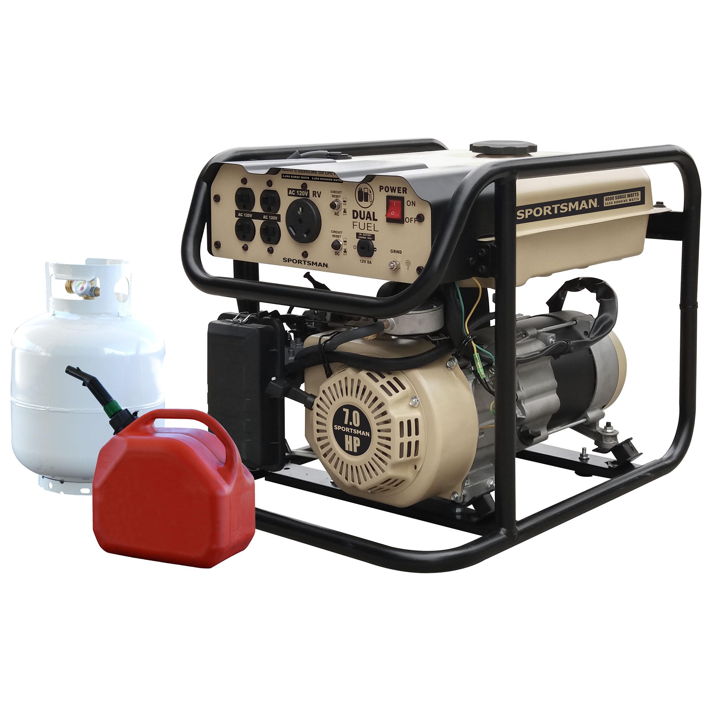 Sportsman 4,000/3,500W Dual Fuel Powered Portable Generator