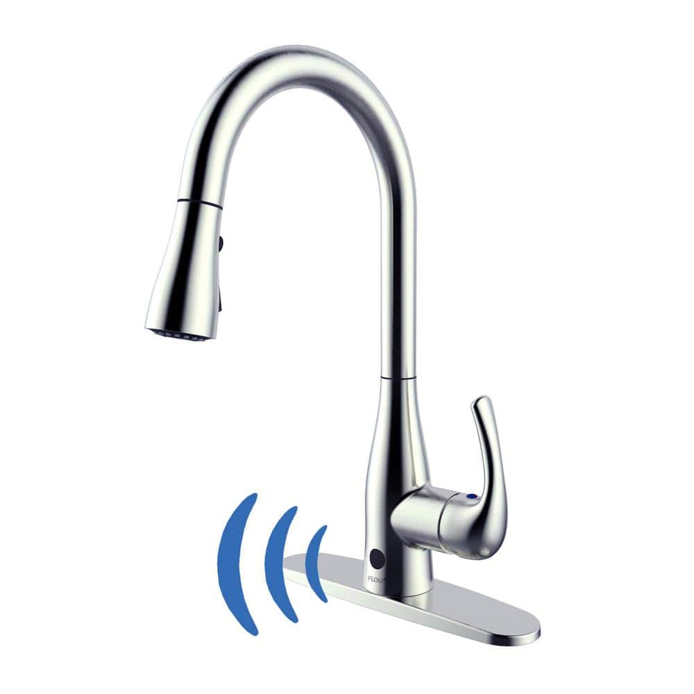 Flow Motion Activated Kitchen Faucet W Pull Down Sprayer