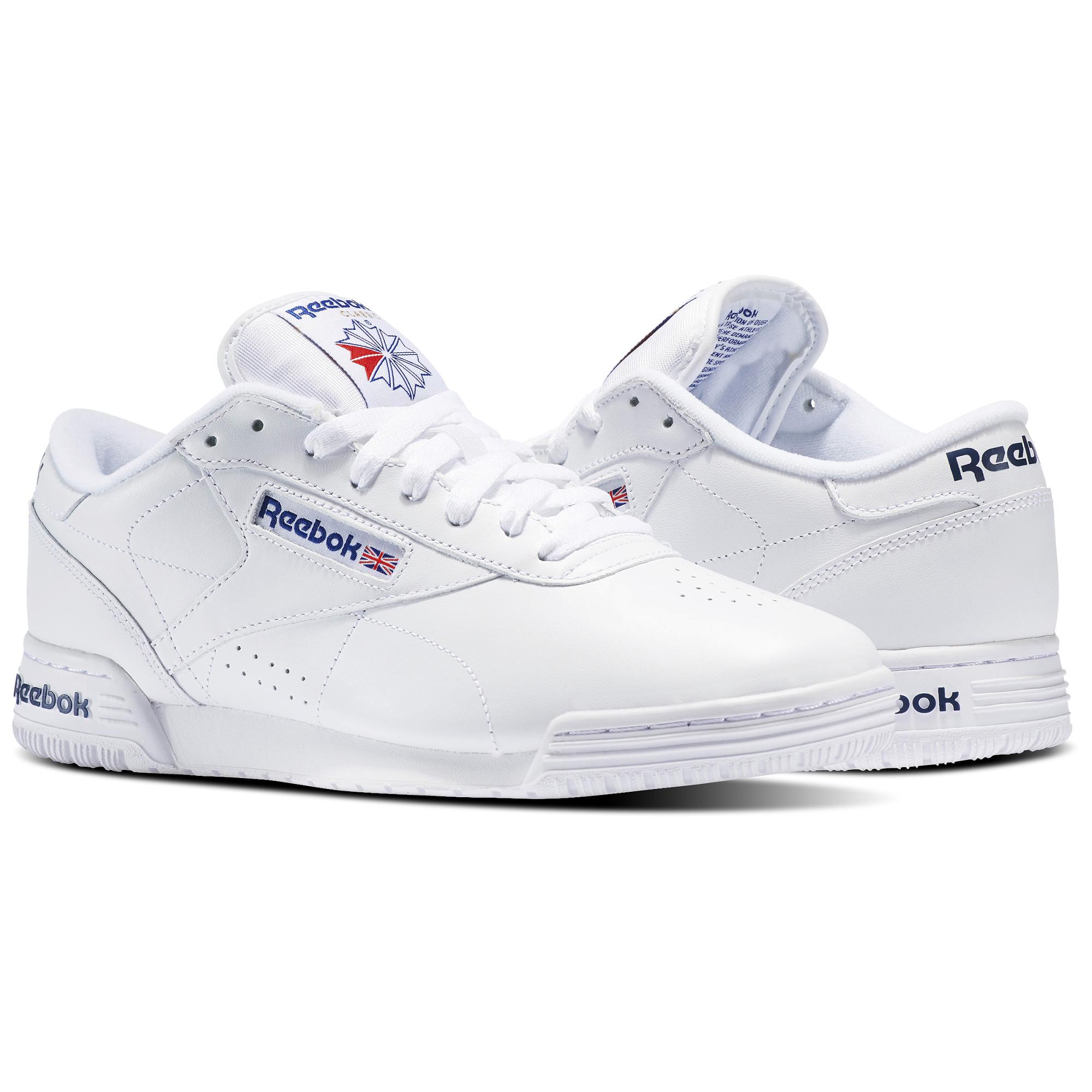 fc3fa0718213 Reebok Men s Classics Exofit Lo Shoes (White) - Slickdeals.net