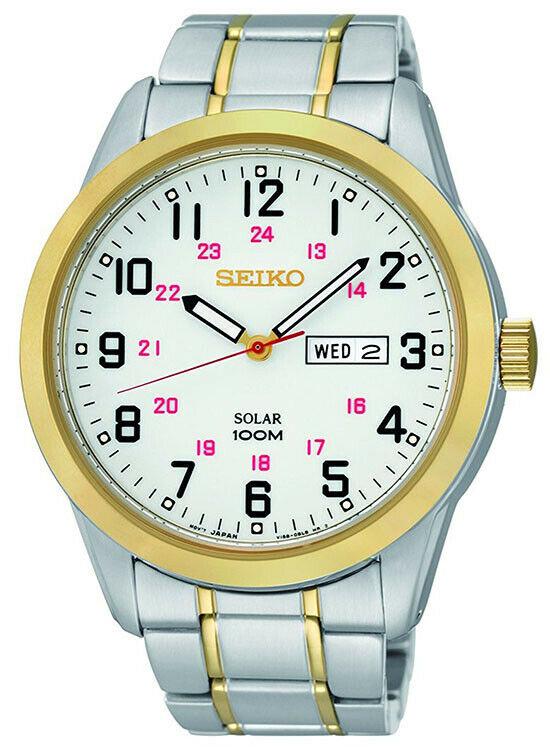 Seiko Men's Solar Two-Tone Watch w/ Stainless Steel Bracelet $104.95 + Free Shipping
