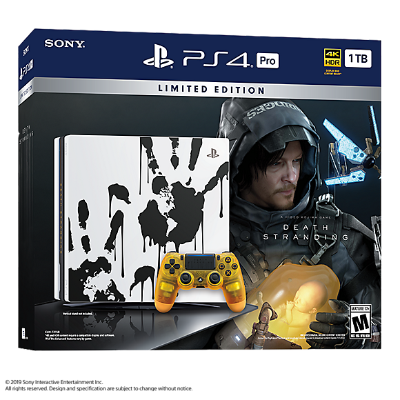PlayStation 4 Pro PS4 Pro 1TB DEATH STRANDING Limited Edition Console Bundle - $299